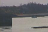 亀津東区海岸から早朝の亀徳なごみの岬浜を望む