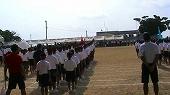 亀津中学校体育祭入場行進