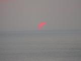 部分日食の日没