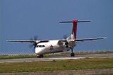 DHC−Q400の離陸の様子