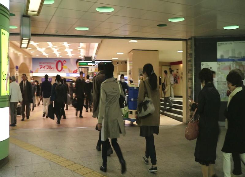 JR新宿駅西口改札前地下広場