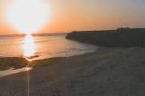 早朝の砂浜