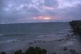 台風23号接近中の朝焼け