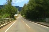 徳之島全島一周 No20 山集落入り口の長い下り坂