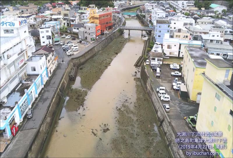 大瀬川下流付近の風景