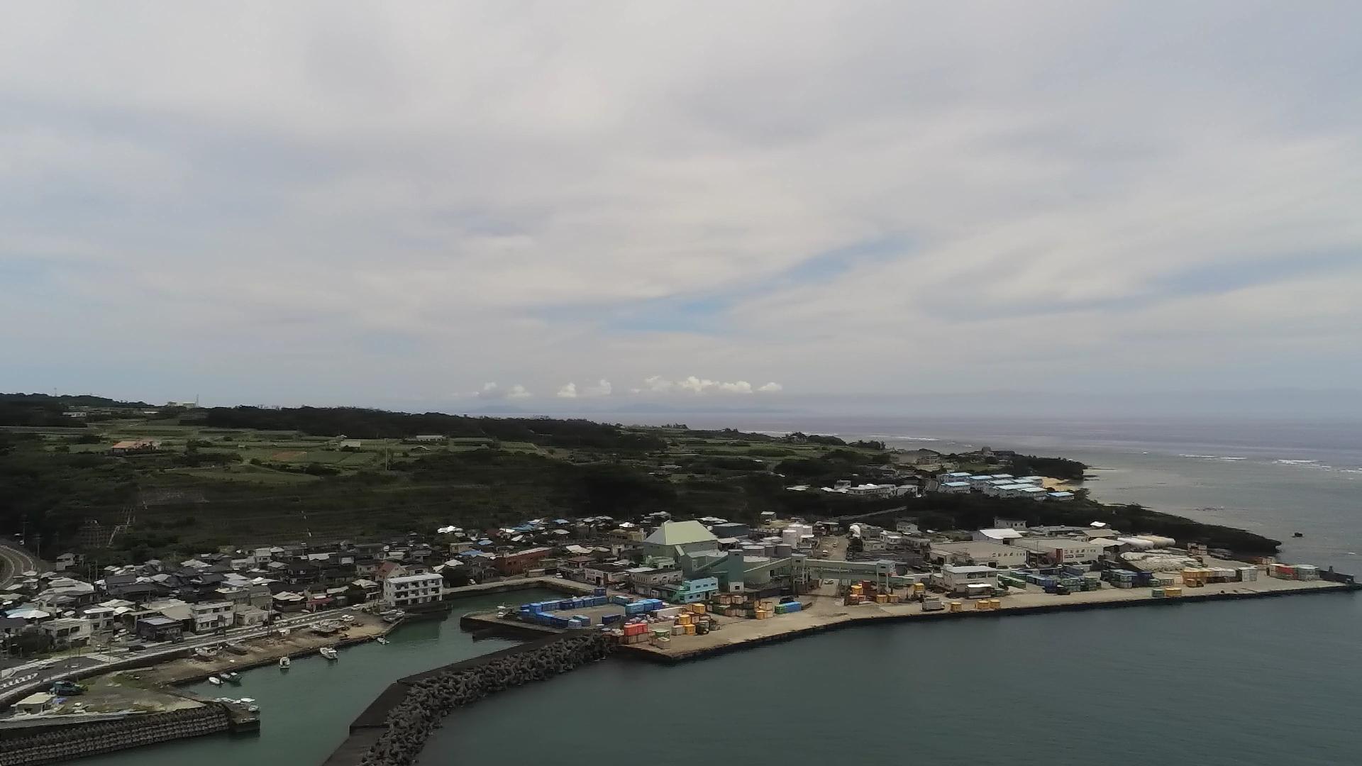 亀徳旧港空撮写真