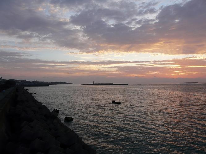 今朝の朝焼け・亀津海岸