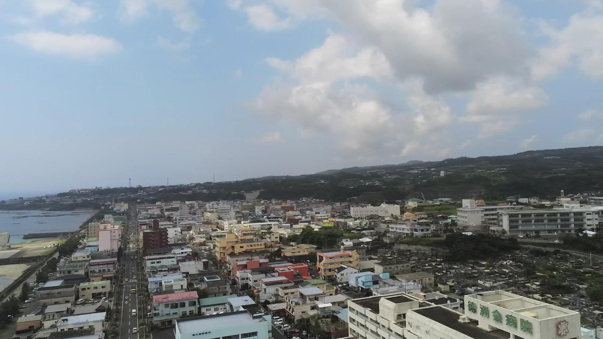 東区上空からの撮影写真