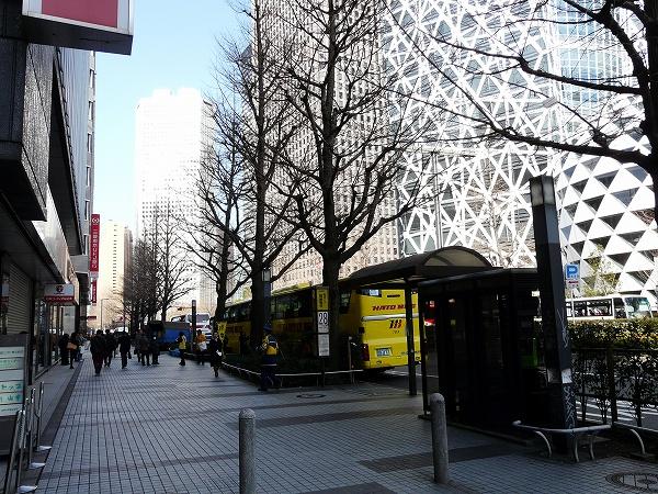 新宿西口はとバス乗り場