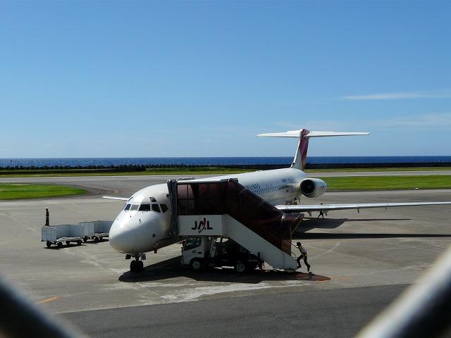 徳之島空港JAL鹿児島便着